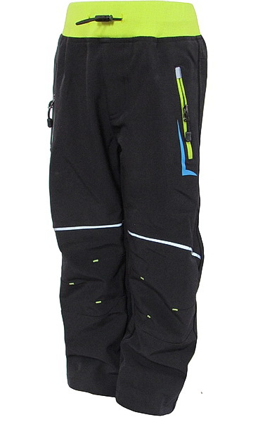 Softshellové kalhoty Kugo (B607), vel. 98, černo-žlutá