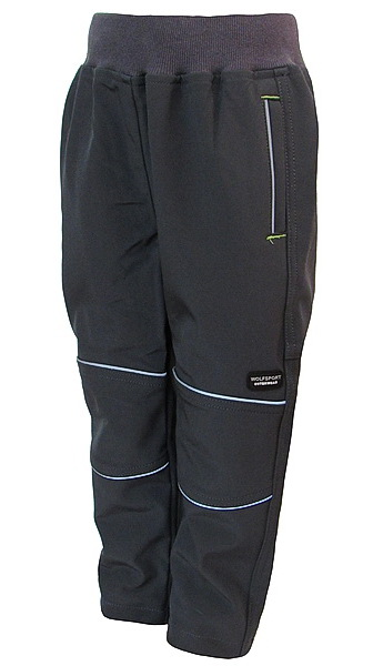 Softshellové kalhoty Wolf (B2783), vel. 98, tm. šedá