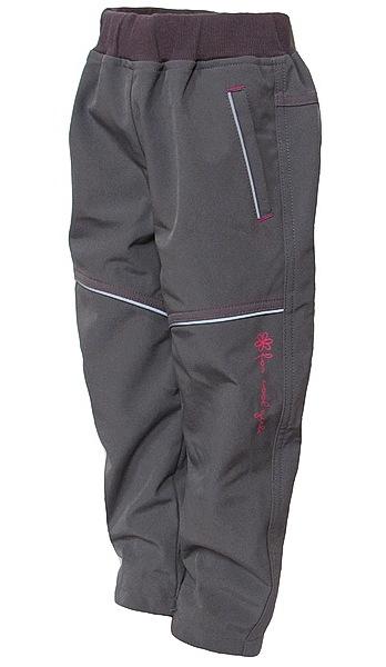 Softshellové kalhoty Wolf dívčí (B2781), vel. 98, šedá