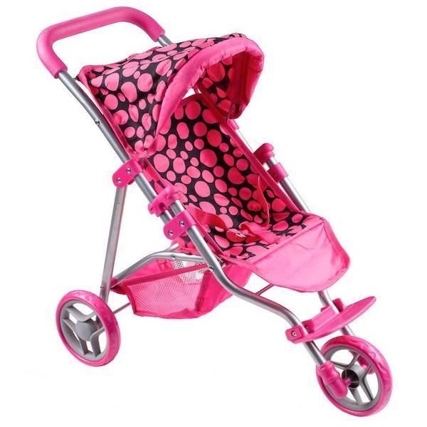 Sportovní kočárek pro panenky PlayTo Olivie růžový, Dle obrázku