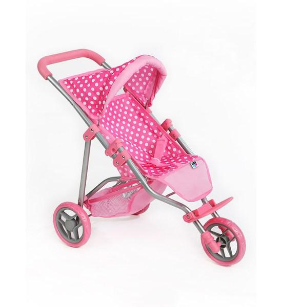 Sportovní kočárek pro panenky PlayTo Olivie světle růžový, světle růžová