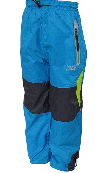 Šusťákové kalhoty Kugo (K508), vel. 98, tyrkysová