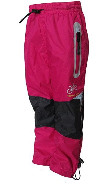 Šusťákové kalhoty Kugo (K602), vel. 122, Růžová