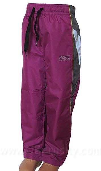 Šusťákové kalhoty Wolf (T2662a), vel. 122, vínová