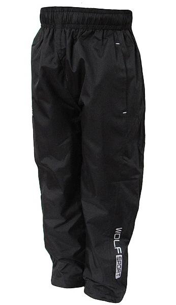 Šusťákové kalhoty Wolf (T2751), vel. 128, černá