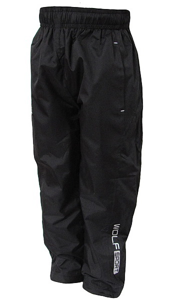 Šusťákové kalhoty Wolf (T2751), vel. 134, černá