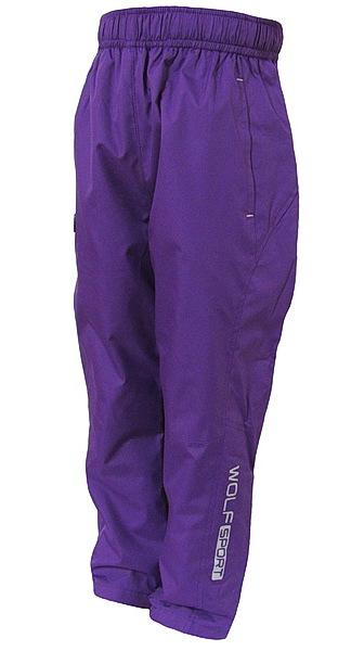 Šusťákové kalhoty Wolf (T2751), vel. 128, vínová