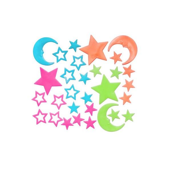 Svítící samolepky Bayo hvězdičky - 30 ks, Dle obrázku
