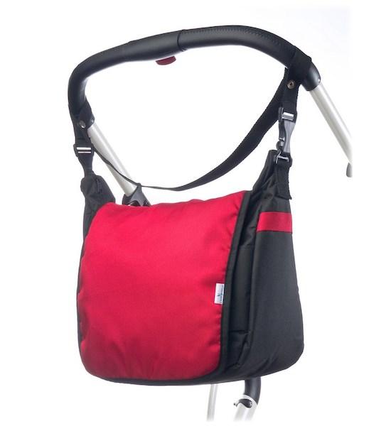 Taška na kočárek CARETERO - light grey, Červená