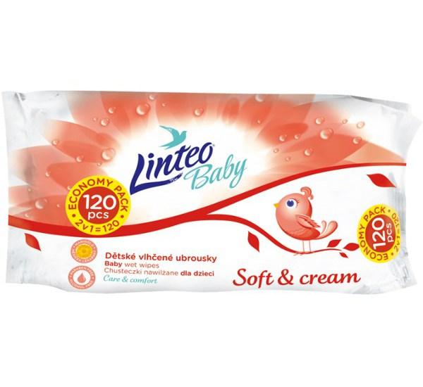 Vlhčené ubrousky Linteo Baby 120 ks Soft and cream, Dle obrázku