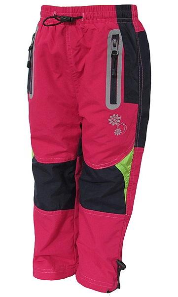 Zateplené kalhoty Kugo (K307a), vel. 128, Růžová