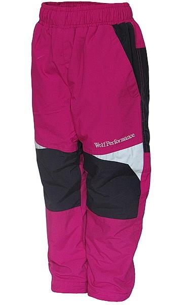 Zateplené kalhoty Wolf (B2674a), vel. 98, Růžová