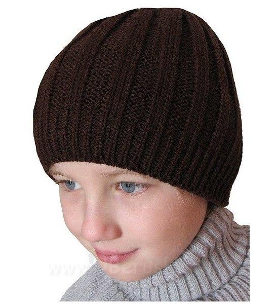 Zimní čepice, vel. 104-116, Hnědá