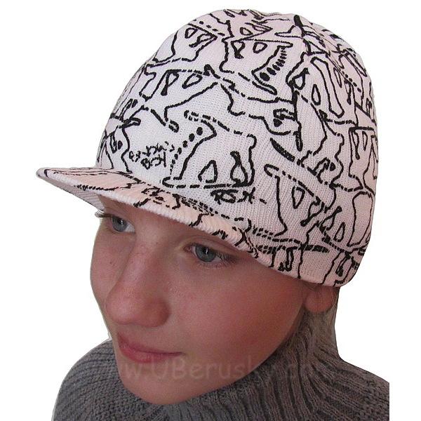 Zimní čepice k kšiltem (RDX216), vel. 104, Bílá