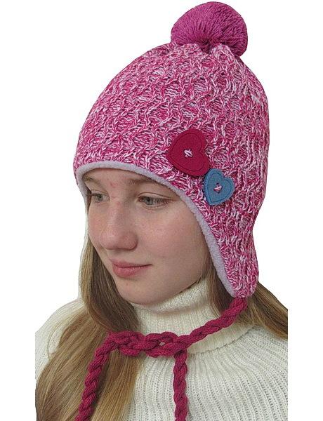 Zimní čepice laponka (DL2033), vel. 116, Růžová