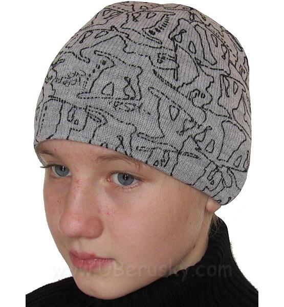 Zimní chlapecká čepice (RDX3012), vel. 116, šedá