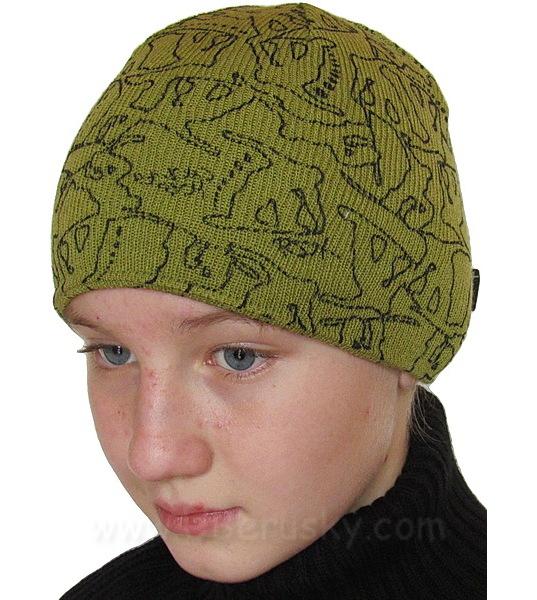 Zimní chlapecká čepice (RDX3012), vel. 116, Zelená