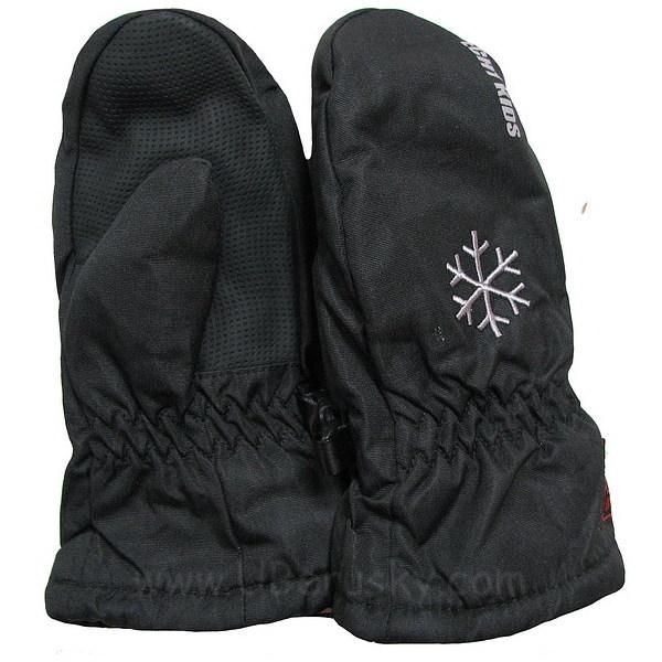 Zimní palčáky, vel. 98, černá-vločka