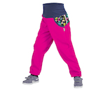 unuo softshellové kalhoty s fleecem Souhvězdí medvěda fuchsiové (Softshell kids trousers with fleece, Great Bear, fuchsia) Veli