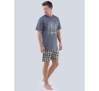 0470116ae80d GINA pánské pyžamo krátké pánské